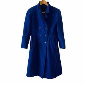 VINTAGE Blue 100% Wool Pea Coat Winter Jacket M